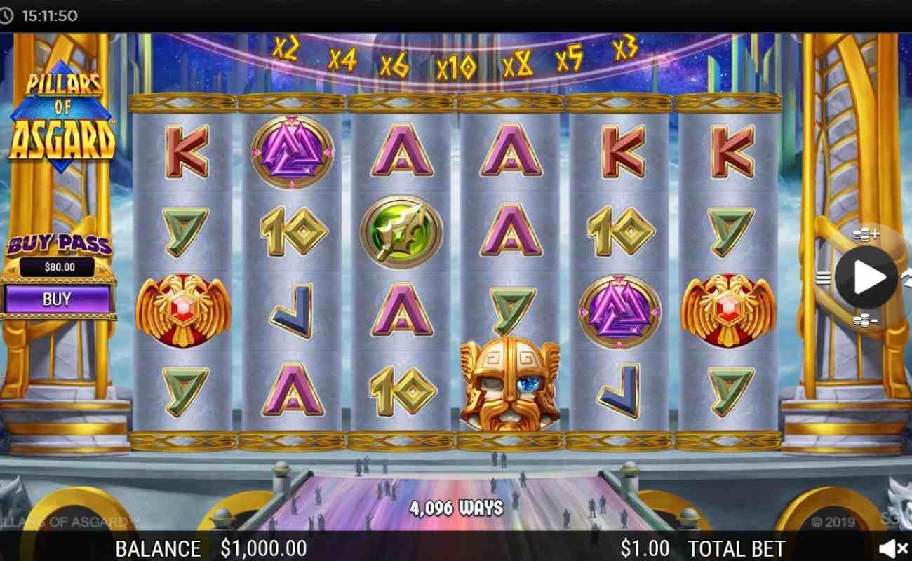 Pillars of Asgard by NYX online slot casino game