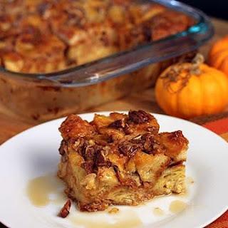 Pumpkin Pecan Croissant Bread Pudding.
