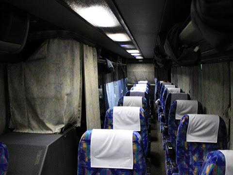東北急行バス「ニュースター号」夜行便 ・834 車内