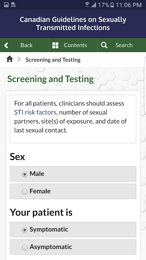 CDN STI Guidelines- screenshot