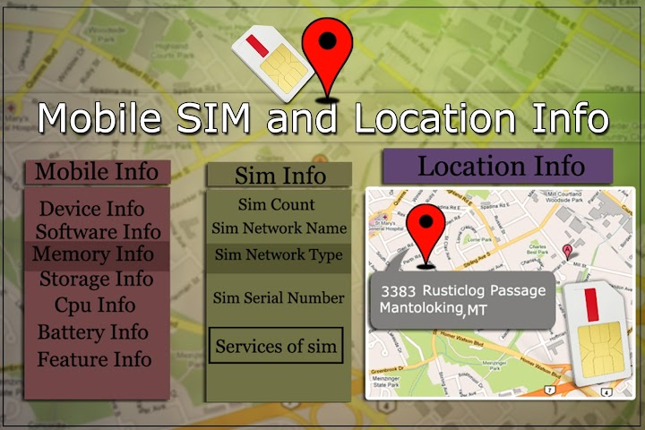 android Mobile,  SIM and Location Info Screenshot 6