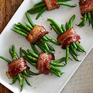 Green Bean Bundles with Bacon and Brown Sugar.