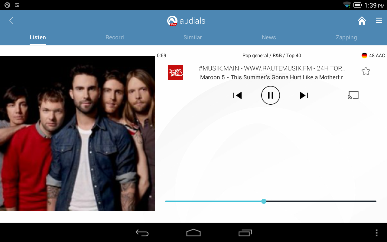 Radio Player by Audials- screenshot