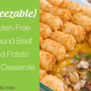 Gluten-Free Ground Beef and Potato Tot Casserole.