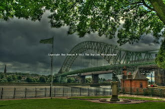 Photo: Runcorn Bridge from West bank
