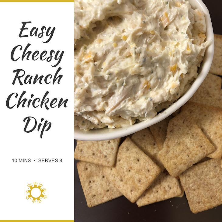 Easy Cheesy Ranch Chicken Dip