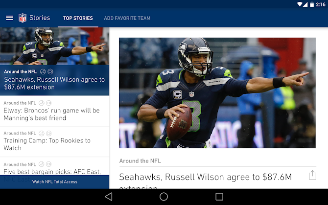 NFL Mobile Android 6