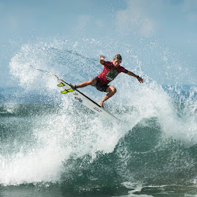 surfer turn by Leticia Cox - Sports & Fitness Surfing ( water sports, surfer, waves, action, beach,  )