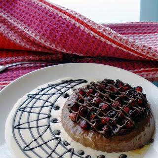 Chocolate Panna Cotta with Pomegranate Seeds