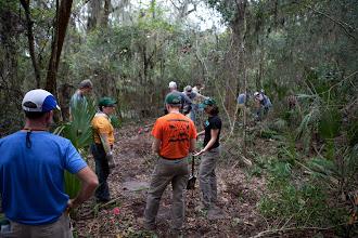 Photo: a trail starts to take shape