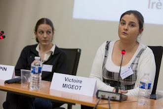 Photo: Irène Mopin et Victoire Migeot intervenant à la table ronde- Photo Olivier Ezratty