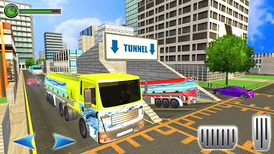 Water Tanker Offroad Transport Truck Driving Game 2