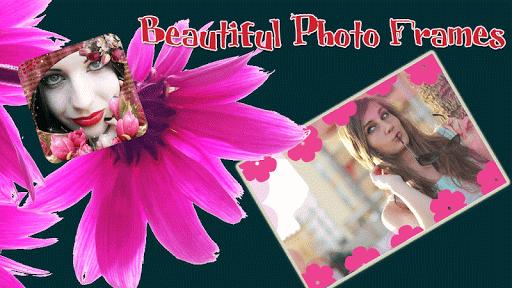 照片相框為女孩