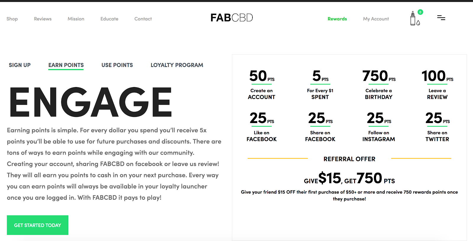 fabcbd customer rewards program