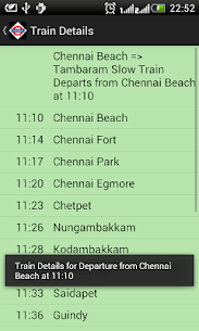 Download Chennai Local Train Timetable App for Android 4