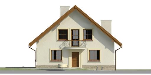 Dom przy Cyprysowej 43 - Elewacja przednia