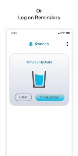Drink Water Reminder: Water Alarm (Kwench) Screenshot