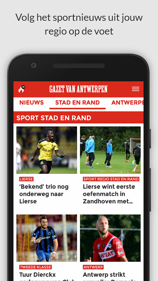 gva.be mobile: screenshot