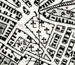 Photo: Térképrészlet a régi temetőről