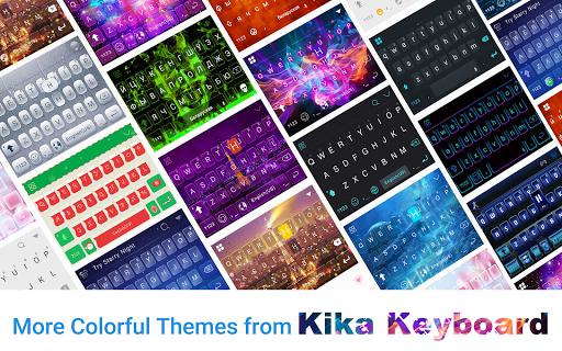 Dreamer Galaxy Emoji Keyboard Theme Screenshot