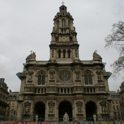 旅游のフランス:サントトリニテ教会(FR016) LOGO-記事Game