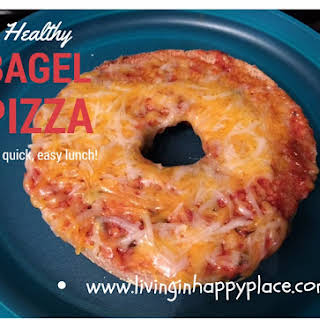Healthy Pizza Bagel Lunch.