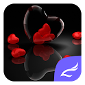 Red Love Heart Theme icon