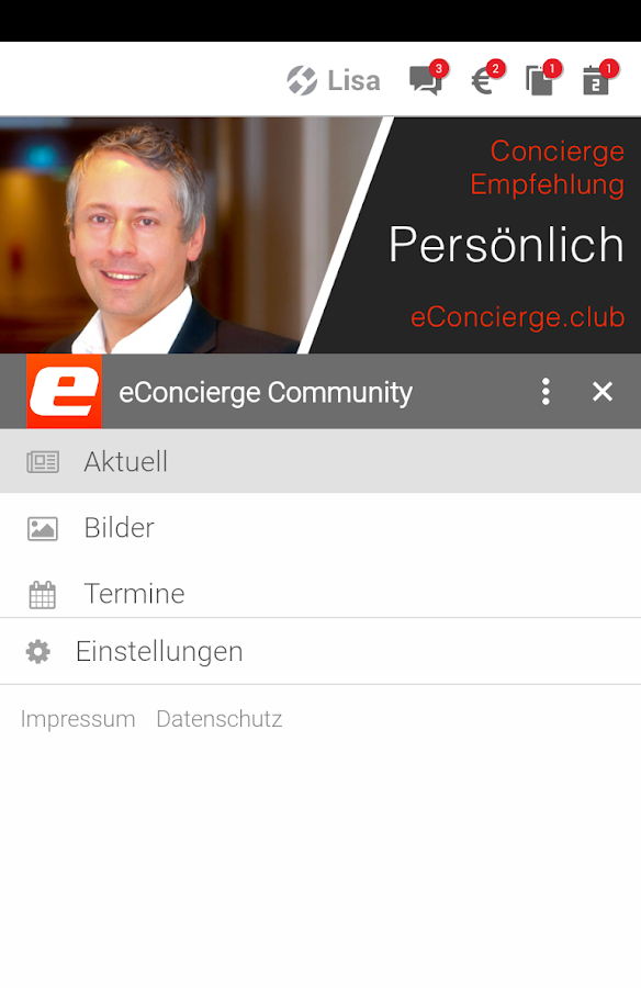 eConcierge- screenshot