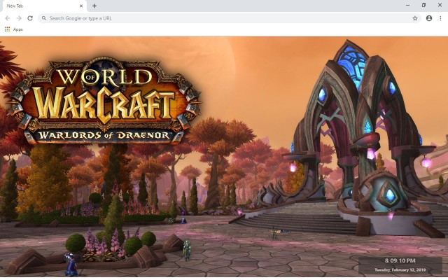 World of Warcraft New Tab