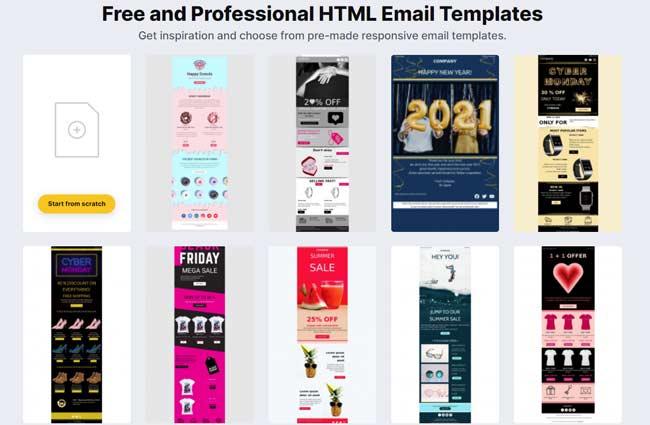 topol templates de email gratuitos