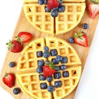 Fluffy Coconut Flour Waffles [ Paleo / Gluten-Free].