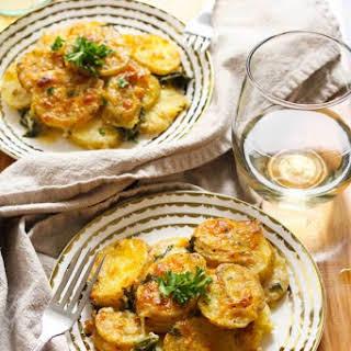 Healthy, Cheesy White Bean Scalloped Potatoes.