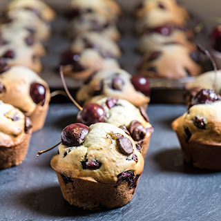 Fresh Cherry and Dark Chocolate Chip Muffins