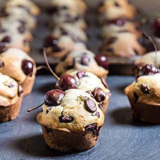 Fresh Cherry and Dark Chocolate Chip Muffins.