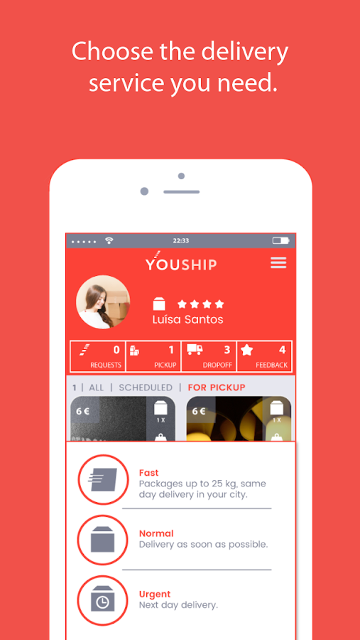 YOUSHIP - Delivery on demand- screenshot