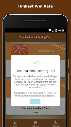 Free Basketball Betting Tips 1.5 screenshots 2