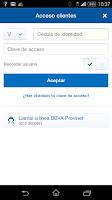 Screenshot of BBVA Provinet Móvil