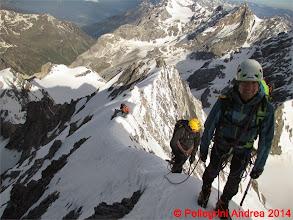 Photo: IMG_8925 cresta affilata, Lorenzo e Riccardo sul filo del rasoio
