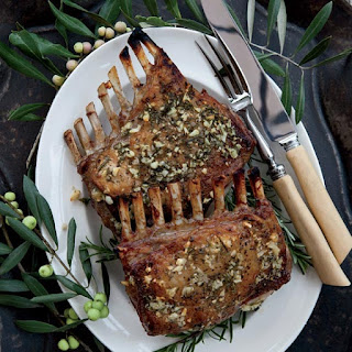 Garlic-Crusted Roast Rack of Lamb