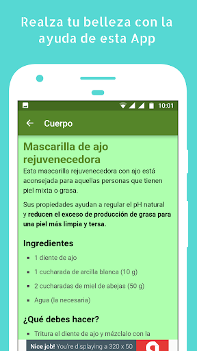 Trucos y Consejos de Belleza Caseros 1.05 screenshots 3