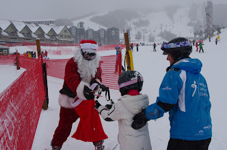 Photo: Santa spreads some cheer at the Learning Zone.