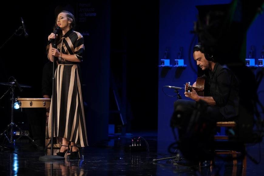 La cantante María Carrasco actuó en la gala.