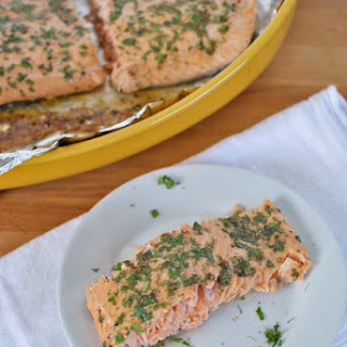 Easiest Baked Salmon with Fresh Herbs.