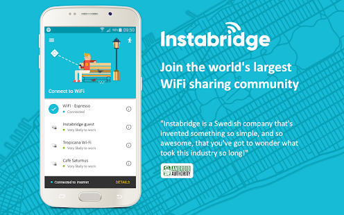 Instabridge - Free WiFi- screenshot thumbnail