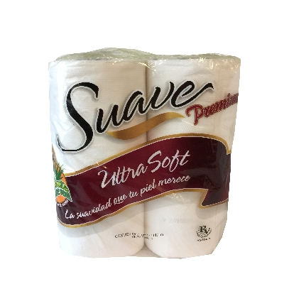 papel higienico suave premium manzanilla 4 rollos