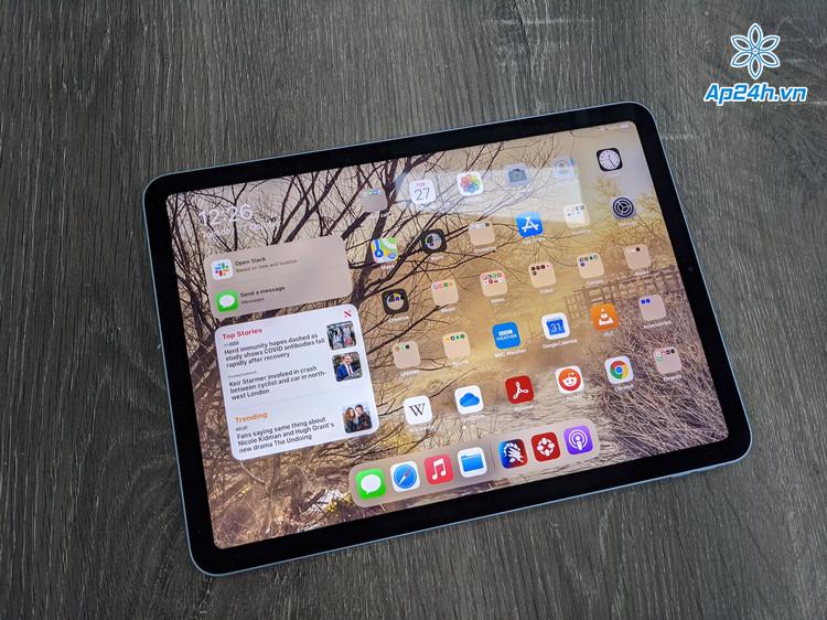 iPad Air với có thiết kế khung viền tràn màn hình