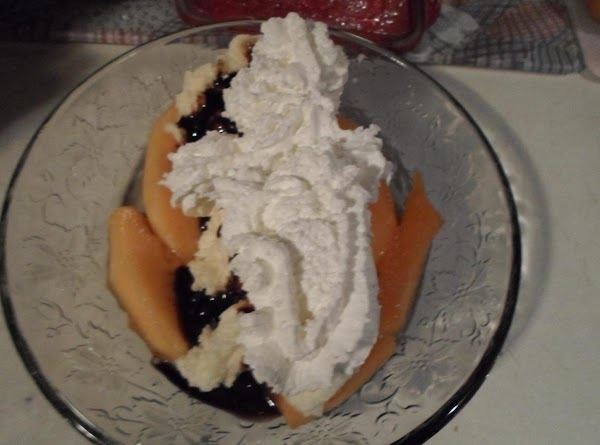 Take whipping cream and put on top of chocolate and ice cream.  ENJOY>>