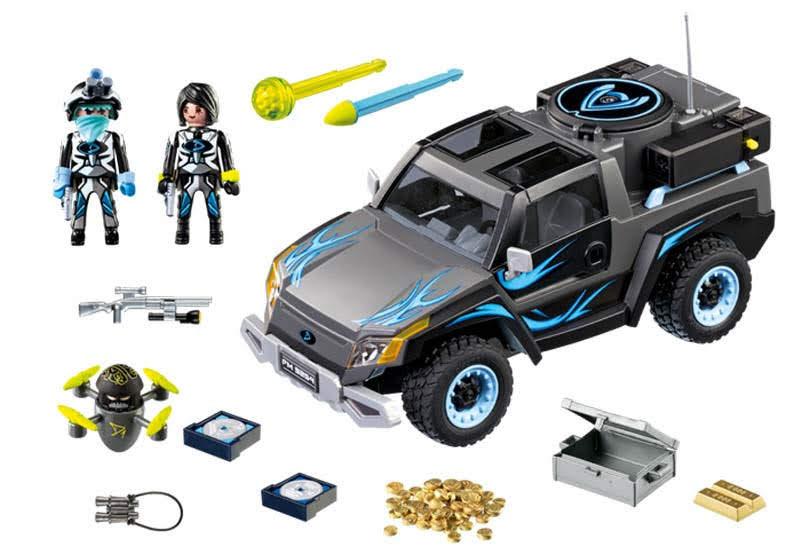 Contenido Real de Playmobil® 9254 Pick Up del Dr. Drone