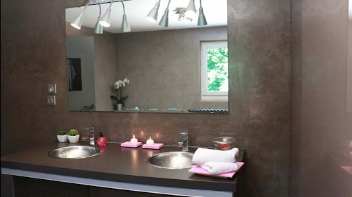 beton cire dans salle de bain