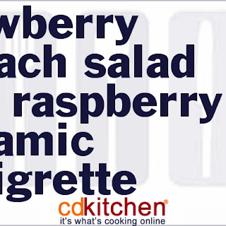 Strawberry Spinach Salad with Raspberry Balsamic Vinaigrette.